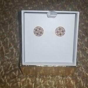 NEW Michael Kors rose gold diamond (cz) earrings